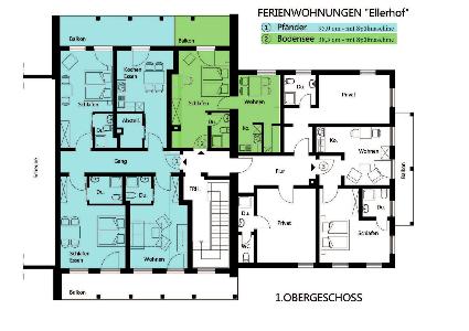 Ferienwohnungen Ellerhof Obergeschoss